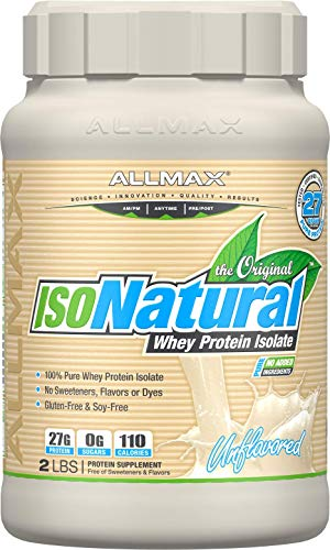 - ALLMAX Nutrition Isonatural Whey Protein Isolate, Unflavored, 2 lbs