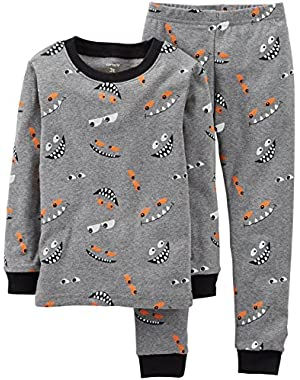 Carter's Baby Boys' 2 Piece Pant PJ Set (Baby) - Eyes