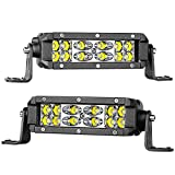 6 inch led spot lights - LED Light Bar 6 Inch Swatow Industries 2PCS 72W Spot Flood Combo LED Pods Off Road Slim Dual Row LED Driving Lights Fog lights Work Lights for Truck SUV UTV ATV Boat - 2 Yr Warranty