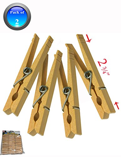 50 Wooden Spring Clothespins / Laundry