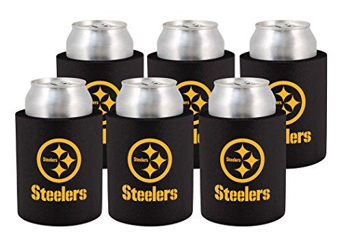 NFL Pittsburgh Steelers Phoozie Set, 6-Pack, Black/Yellow (Coaster Set Pittsburgh Steelers)