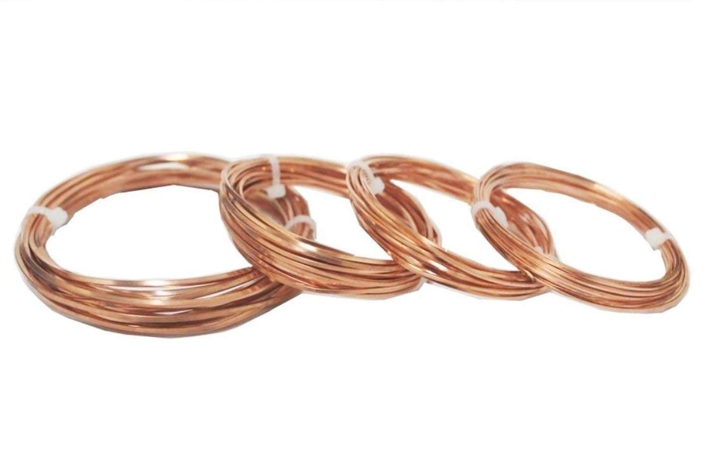 Modern Findings Assorted Square Copper Wire 10 Ft each size (Dead Soft) by Copper Wire USA