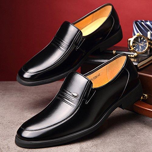 Découpes Cuir Housses Hommes en en Costumes Cuir LEDLFIE D'affaires pour Chaussures Black Chaussures S8I0Oqa