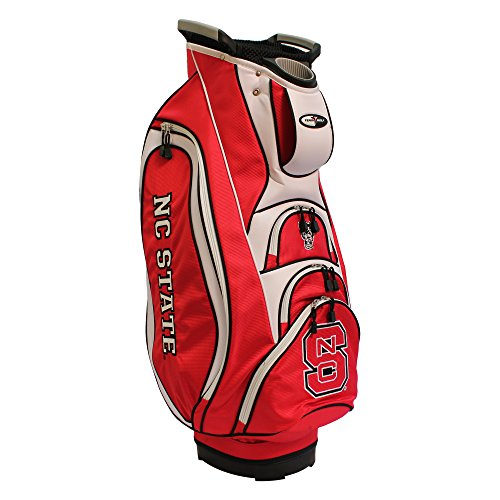 - Team Golf NCAA NC State Wolfpack Victory Golf Cart Bag, 10-way Top with Integrated Dual Handle & External Putter Well, Cooler Pocket, Padded Strap, Umbrella Holder & Removable Rain Hood
