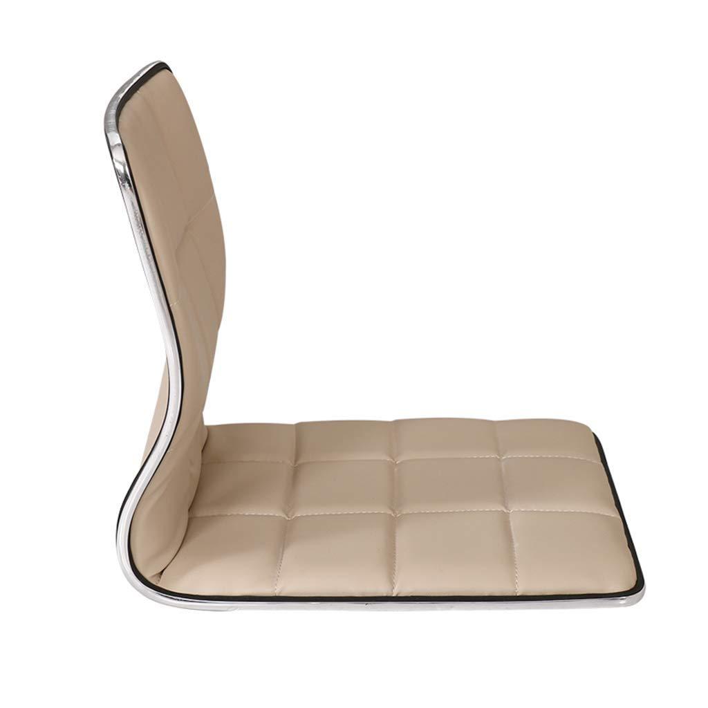 HEWEI Cortex spelstolar, japansk vänsterlös stol, burspråk med ryggstöd, vattentät lat stolskudde, golvstol lat soffa spel meditation golvstol, röd Svart