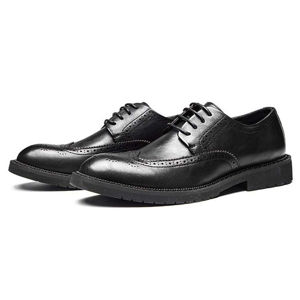 Phil Betty Mens Business Oxford Shoes Round Toe Fashion Comfortable Dress Shoes