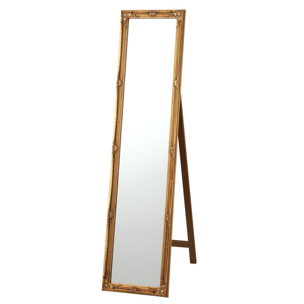 大型 全身鏡 飛散防止 スタンドミラー 全身 鏡 おしゃれ 大きい 姿見 ビッグ ミラー かがみ ゴールド B00UYSQZRU お客様にて設置|ゴールド ゴールド お客様にて設置