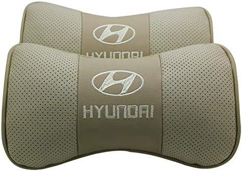 car sales 2 PCS Genuine Leather Bone-Shaped Car Seat Pillow Neck Rest Headrest Comfortable Cushion Pad with Logo Pattern Fit Infiniti