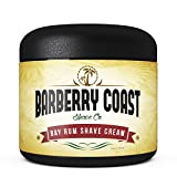 Bay Rum Shaving Cream for Men – Made with Shea Butter, White Tea & All Natural Ingredients – Full of Organic Soothers, Moisturizers & Anti-Oxidants