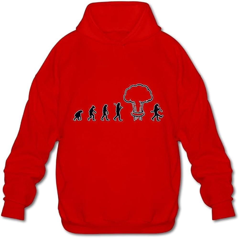 JIN YONG Funny Human Evolution Men Long Sleeve Pullover Casual Hoodies Hooded Sweatshirt Graphic Hoodie