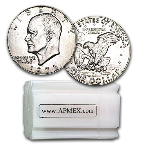 Roll Eisenhower Dollar (1973 Clad Eisenhower Dollar 20-Coin Roll BU $1 Brilliant Uncirculated)