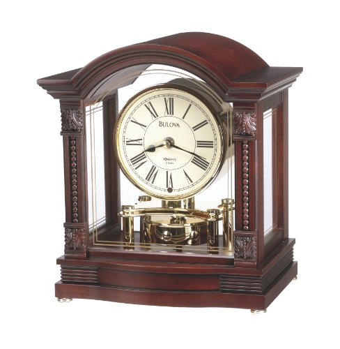 Bulova Clock - Bulova B1987 Bardwell Clock, Antique Walnut Finish