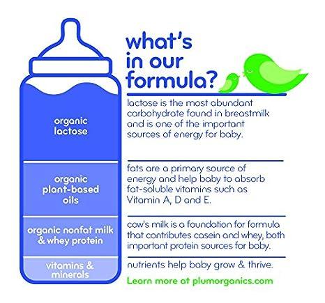 Plum Organics Grow Well Organic Infant Formula, 21 Ounce: Amazon ...