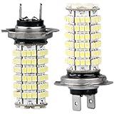 TOOGOO(R) 2 X H7 AMPOULE LAMPE 3528 SMD 120 LEDs BLANC 12V POUR VOITURE