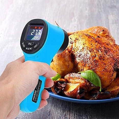 Coche medidor de Temperatura Digital de Mano para Invernadero CerisiaAnn Term/ómetro infrarrojo term/ómetro infrarrojo Industrial sin Contacto casa
