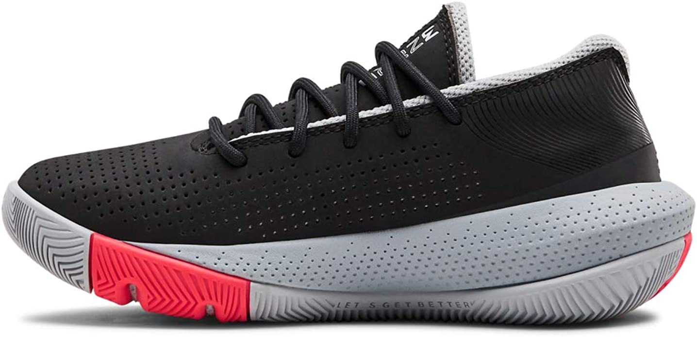 601 Red //Black 3.5 Under Armour Unisex-Kids Pre School Lockdown 4 Basketball Shoe