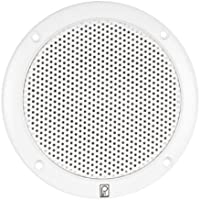 POLY PLANAR POL-MA-4056-W / 80W (Pair) 2-Way Coaxial 6 White Round Integral Speaker, MFG# MA-4056-W, White, low magnetic field, integral plastic grill. Hardware and speaker wire included.