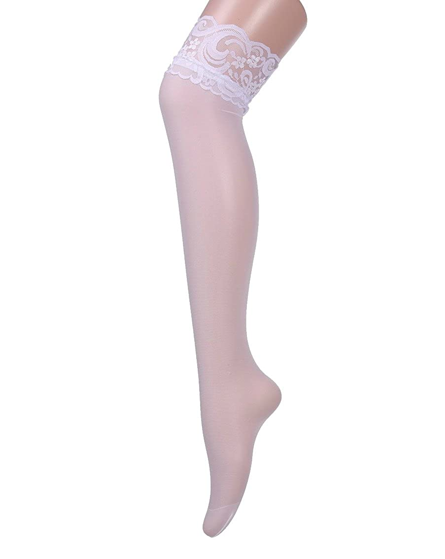 Women's Stay Up Lace Top Thigh High Stockings Elastic Over Knee Socks