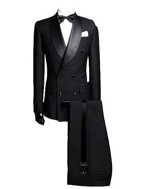 Amazon.com: Lilis Hombres Blazer Slim Fit formal del traje ...