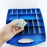 Lonjew 728 Hardware Box Storage. Hinged Box Made of Durable Plastic in a Slim Design with 28 compartments. Excellent for Screws Nuts and Bolts.