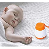 Ankoola Portable Baby Shhh Machine White Noise Sound Machine, Cry Sensor & Auto-Off Timer & Rechargerable Sleep Soother - Gentle 6 Sounds Include Lullaby, Fetal Heartbeat, White Noise, Shush, Ocean.