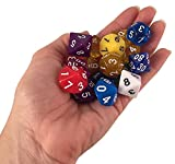 Skull Splitter Dice- One Pound Bag- 126 Polyhedral RPG Dice- 18 Complete Sets- Velvet Pouch Included