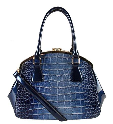 rimen-co-shiny-patent-pu-leather-doctor-tote-womens-purse-handbag-lx-2362-blue
