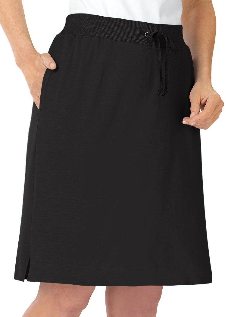 AmeriMark Knit Skort Petite Black