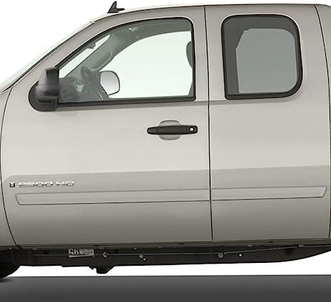 GMC Sierra Dawn Enterprises FE2-SILVERADO-EC Finished End Body Side Molding Compatible with Chevrolet Silverado Black WA501Q 58