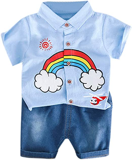 Newborn Baby Boy Girl Feather T-shirt+Pants Metallic Leggings Outfits Set 12-18M