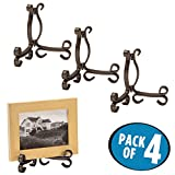 mDesign Easel Holders for Cookbooks, China Plates, Diplomas - Pack of 4, ...