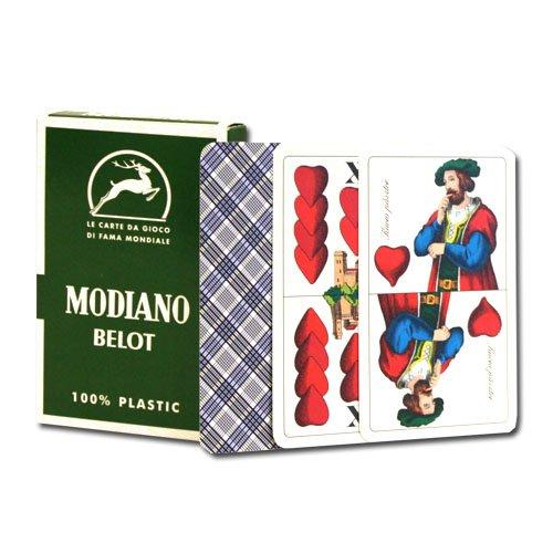 100% Plastic Deck of Belot Italian Regional Playing -