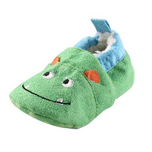 Dacawin Baby Girls Boys Cloth Animal Crib Shoes (0~6 Month, Green) (Decorative Deck Fringe)