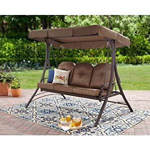 Mainstays Wentworth Hammock Porch Swing For 3-Person