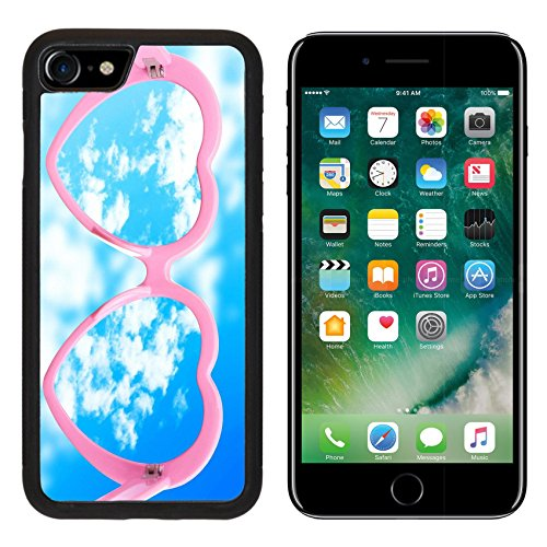 MSD Premium Apple iPhone 7 Aluminum Backplate Bumper Snap Case iPhone7 Vision concept Glasses on sky background IMAGE - Eyewear Vision Neo
