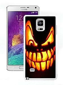 Customized Halloween Pumpkin White Samsung Galaxy Note 4 Case 2