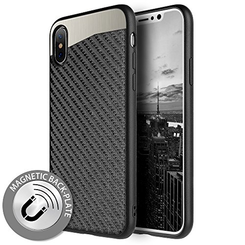 Candy Finish (p2s88 APPLE IPHONE X CARBON METALLIC FUSION CANDY CASE TPU WITH CARBON FIBER FINISH - BLACK)
