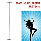 Topeakmart Fitness Dance Pole Exercise Stripper Dancing Pole Spinning & Static, 45mm