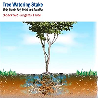 Smart Spring Tree Watering Stake Large for Trees, Bushes, shrubs, Irrigation Stake 8 inches (3): Garden & Outdoor