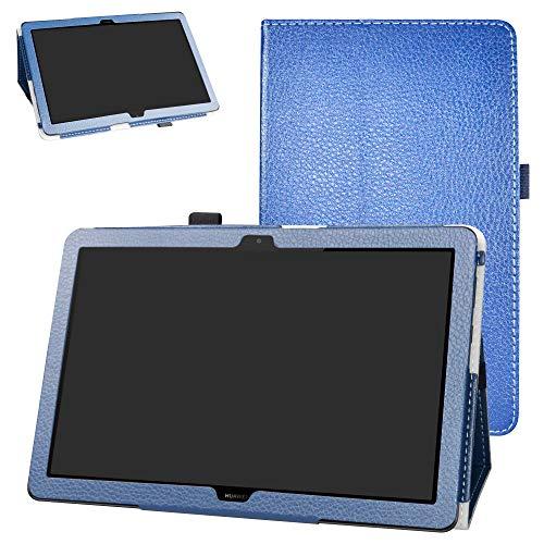 FUNDA DE CUERO PARA Huawei MediaPad T5 10-Inch AZUL
