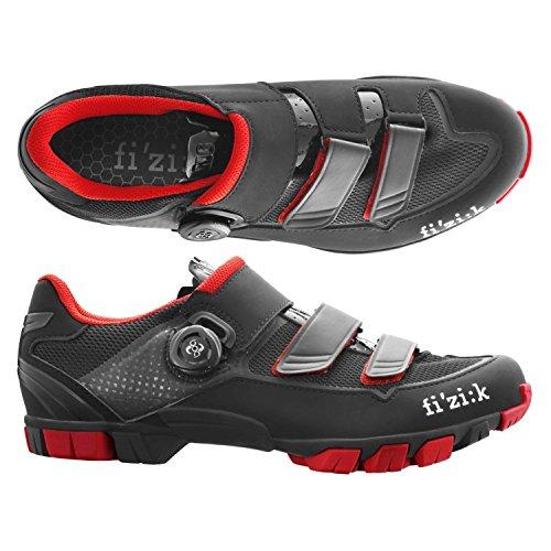(fizik/フィジーク)(自転車用シューズ/靴用品)M6B UOMO(メンズ)BOA MTBシューズ BK/レッド 39   B01EVESWVO