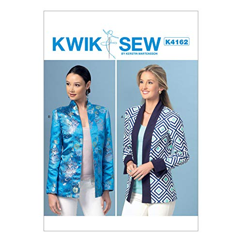(KWIK-SEW PATTERNS K4162 Misses' Open-Front Banded Jackets, All Sizes)