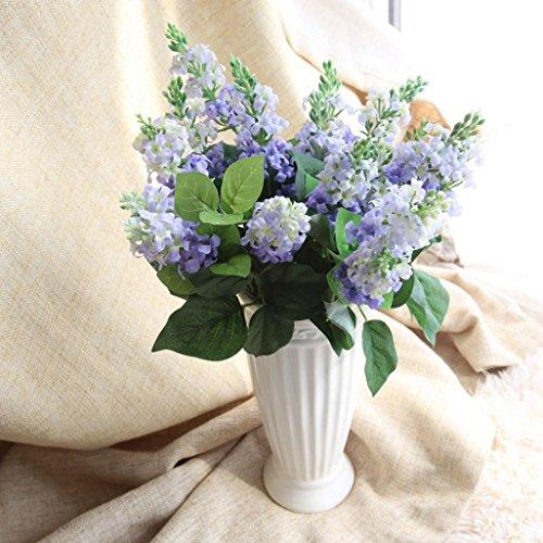 YJYdada Artificial Silk Fake Flowers Hyacinth Floral Wedding Bouquet Hydrangea Decor (Blue)