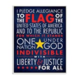 Stupell Home Décor The Pledge Of Allegiance Textual Art Wall Plaque, 11 x 0.5 x 15, Proudly Made in USA