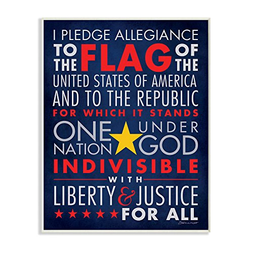 Stupell Home Décor The Pledge Of Allegiance Textual Art Wall