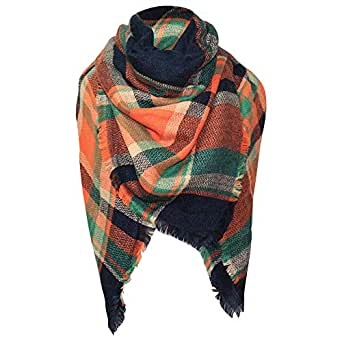 Cckuu Tassels Plaid Blanket Scarf Women Girl Stylish Warm Gorgeous Wrap Shawl (A31)