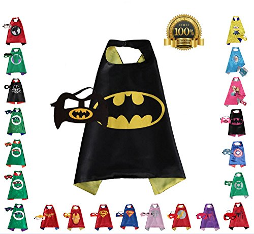 Super hero Cape and Mask, Children, Boys, Girls Dress Up Costume (Superhero Outfit Ideas)