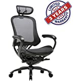Ergonomic High Mesh Swivel Executive Chair with Adjustable Height, Head, Arm Rest and Lumbar Support Back for Home Office