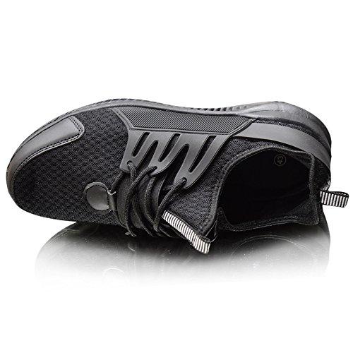 Xelay Herren Basketball Knöchelhoch Stiefel Bekomme Passform Netz Laufen Sportschuhe Size UK 6 - 11 Black Low Top