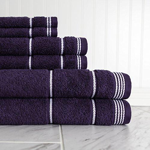 Cordial Bath (ADI American Dawn 7821T7P747 Bath Towel Set, 6Piece, Blackberry Cordial)